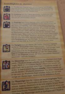 Auf der Rückseite der Anleitung findet man alle Figuren detailliert beschrieben.